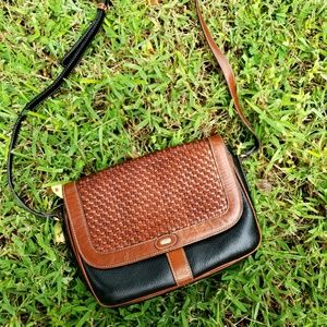 Vintage Bally Leather Crossbody Purse